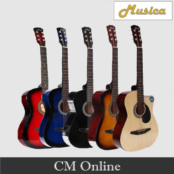 Folk Gutar 38 (Musica) 38C (Red/Blue/Back/Sunburst/Brown) Malaysia