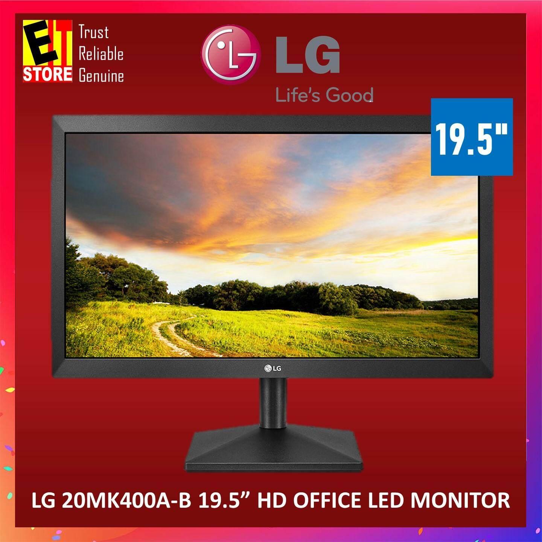 "LG 20MK400A-B 19 5"" HD OFFICE LED MONITOR"