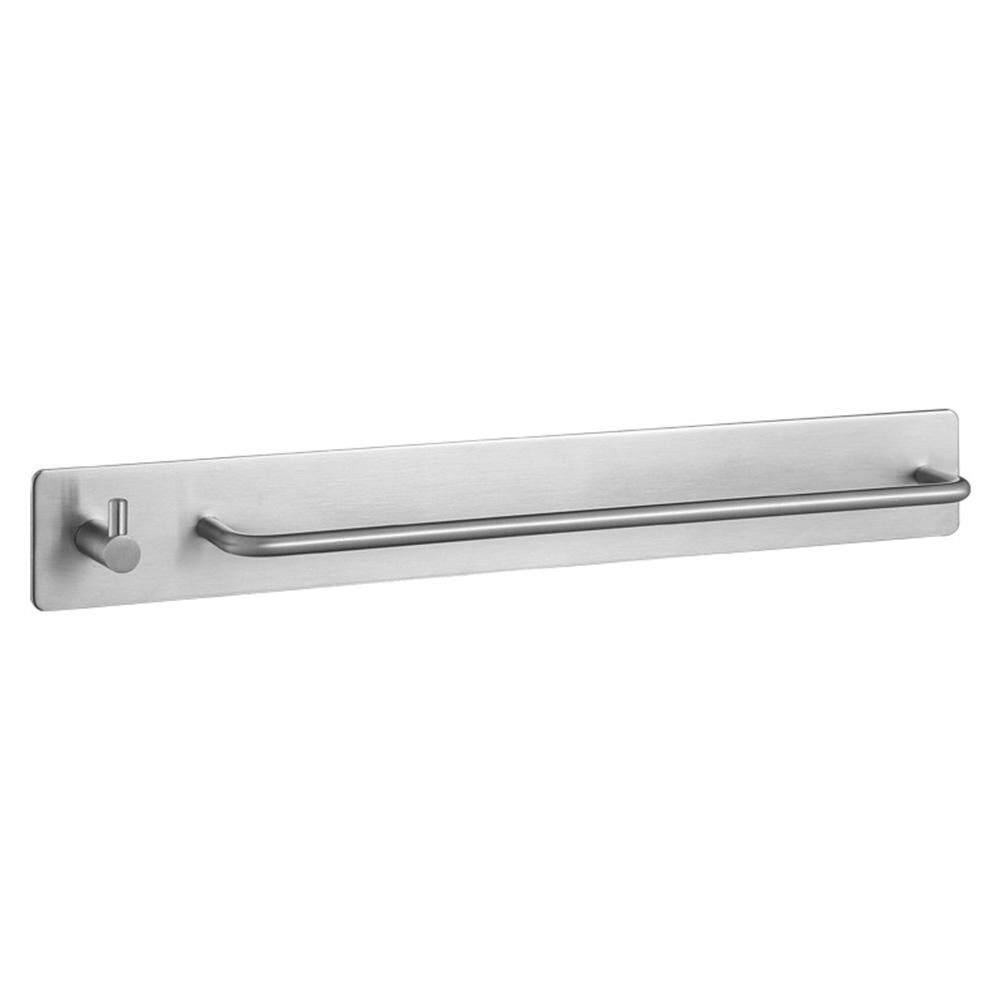 Bathroom Accessory Stainless Steel Bar Self Adhesive Towel Shelf Single Hook