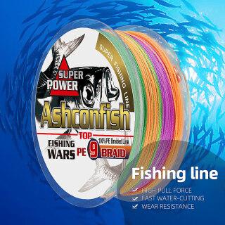 Dây Câu 9 Sợi Ashconfish 500M, Dây Câu Cá Bện PE 15-310LB, Dây Bện X9 9 Siêu Chắc thumbnail
