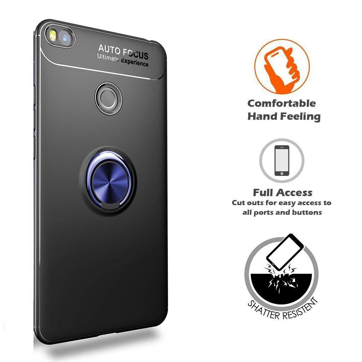 For Xiaomi Mi Max 2 Case, 360 Degree Rotatable Bracket Shockproof Metal Buttonhole Bracket Case