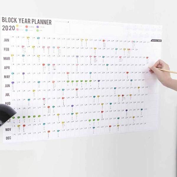 Mua Hkf 2020 Lịch Treo Tường Hàng Năm Năm Biểu Đồ Kế Hoạch Hàng Năm Trang Chủ/Văn Phòng/Năm Làm Việc Lịch Trình Kế Hoạch Đếm Ngược Lịch (Mẫu Kế Hoạch 1 Năm + 2 Nhãn Dán)