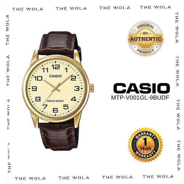 [100% Original] Casio Watch For Men Jam Tangan Lelaki MTP-V001GL-9BUDF for man (1 Year Warranty) Malaysia