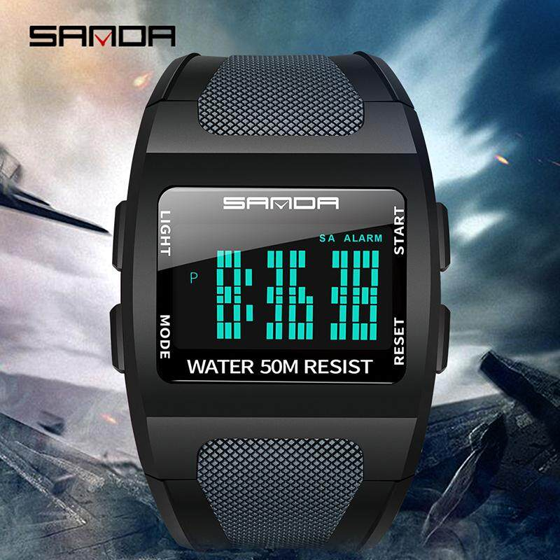 SANDA New Original Hot Sale Mens Watch Brand LED Digital Watch Luminous Fashion Luxury Waterproof Quartz Watch Outdoor Multi-function Watch Malaysia