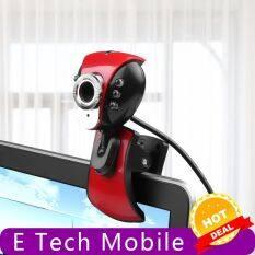 Camera Mini HD E Tech Mobile【mới】camera Máy Tính 360 Độ USB 2.0 50.0M 6 Camera Máy Tính Có Đèn LED Webcam HD Webcam Có MIC Cho PC Máy Tính Xách Tay Để Chơi Game
