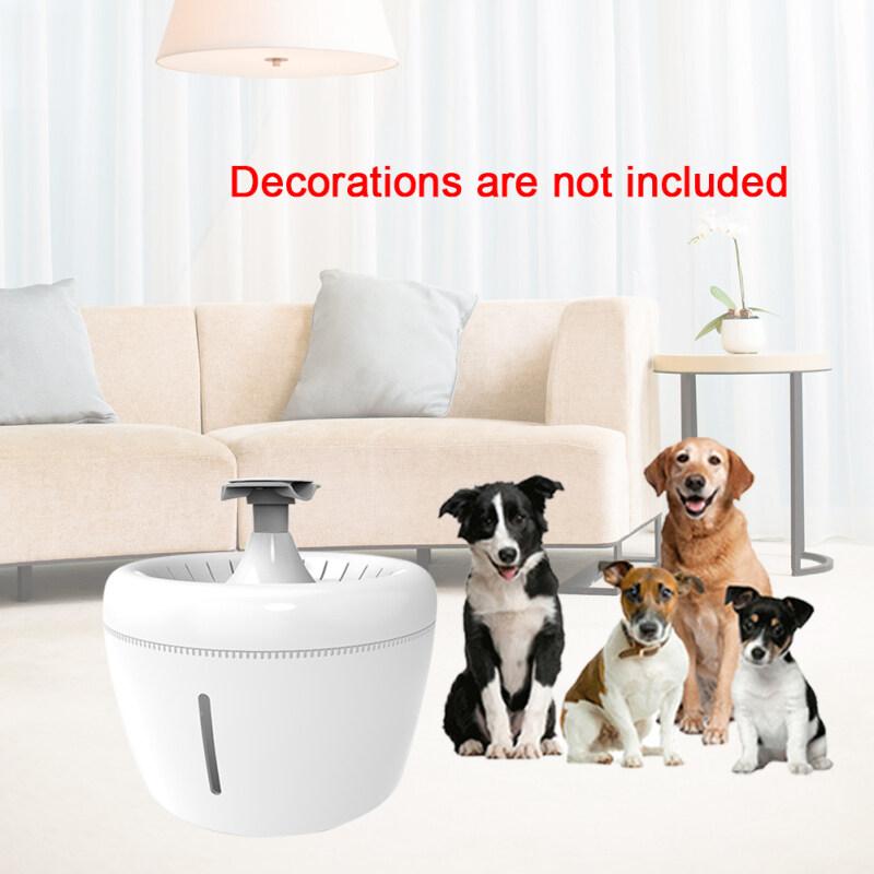 Bình đựng nước cho thú cưng, bình rót nước dung tích lớn, bình đựng nước uống có sạc USB 2,5L, tự động cho chó mèo, khử tiếng ồn tại nhà