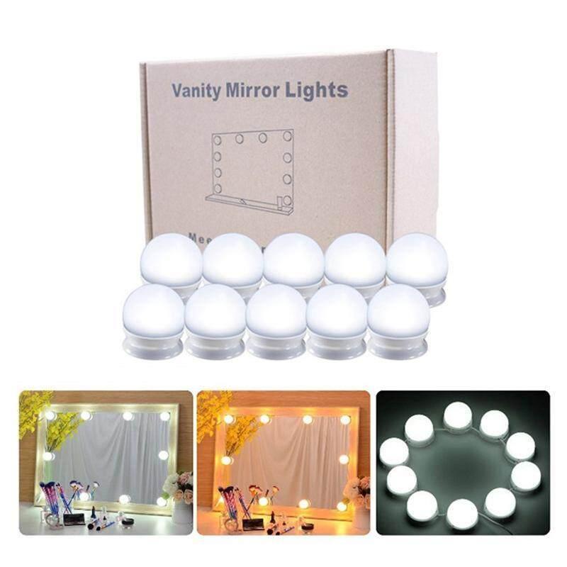 Vanity Gương LED Đèn Bộ Mờ 10 Bóng Đèn Chiếu Sáng DIY Đèn Dây Trang Điểm Bàn Trang Điểm
