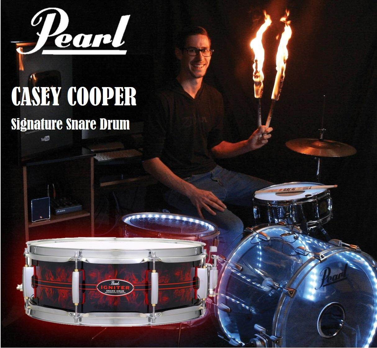 Pearl Casey Cooper Igniter Collaborated Snare Drum - 14