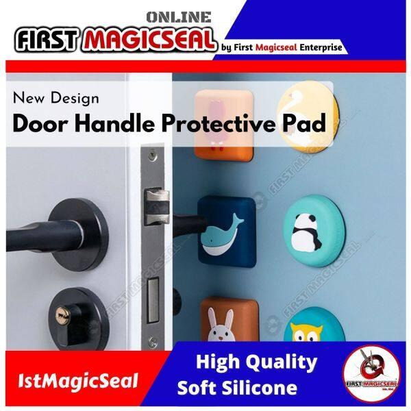 1stMagicSeal - Door Handle Protective Pad Door Stopper Wall Door Bumper Doorknob Rubber Fender Lock Protective Pad