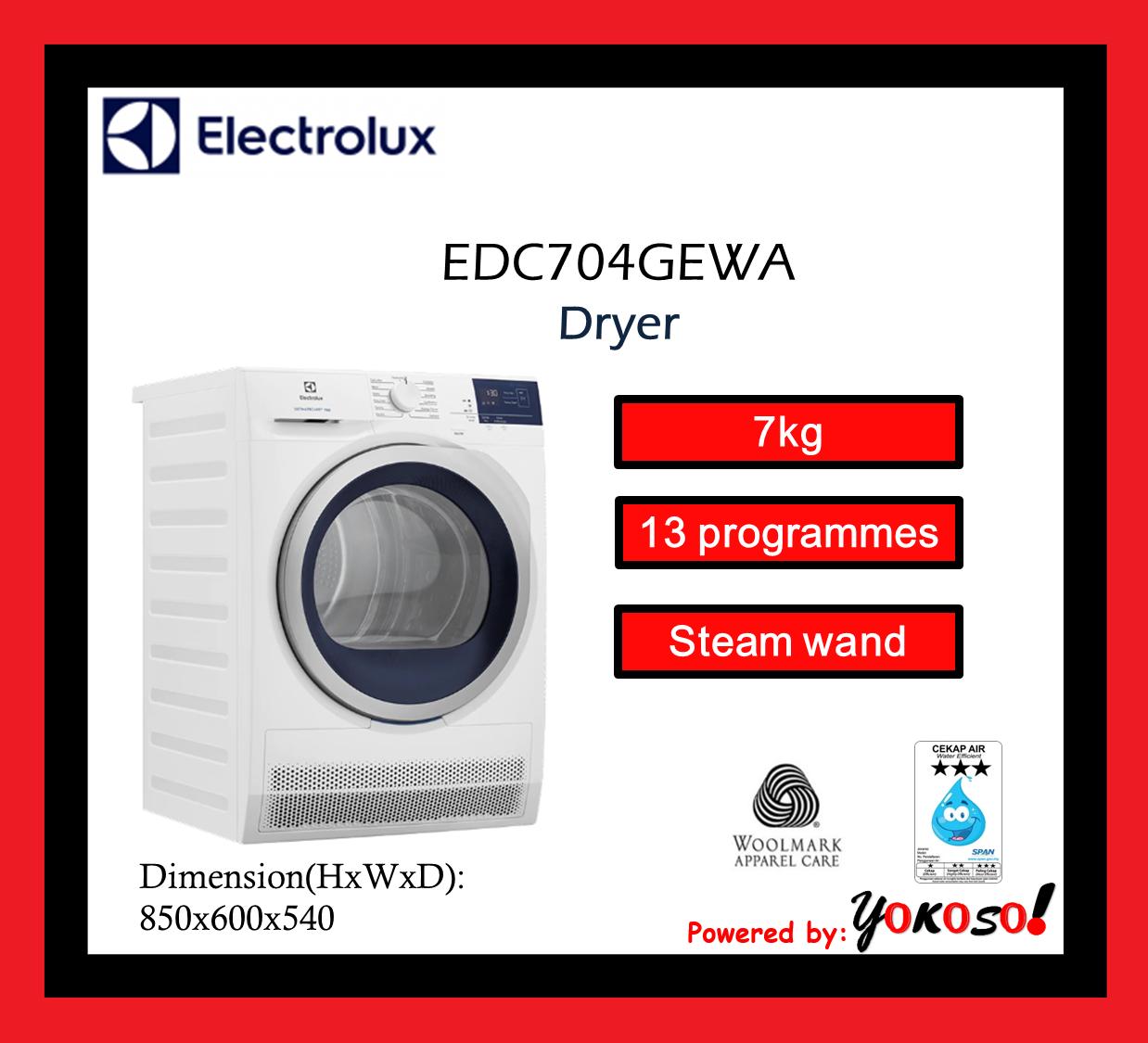 Electrolux EDC704GEWA 7kg UltimateCare™ 700 Condenser Dryer