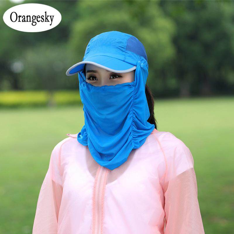 Orangesky Removable Fishing Hat UV Protecting Breathable Fishing Cap with  Neck Face Cover Outdoor Hiking