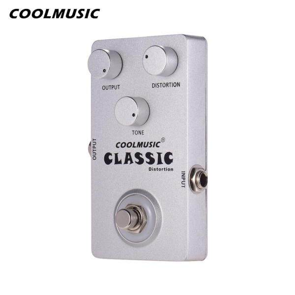 COOL MUSIC C-DI01 Classic Distortion Guitar Effects Pedal with Light Analog Circuit Distortion Effect Pedals Alluminum Alloy Shell Silver Malaysia