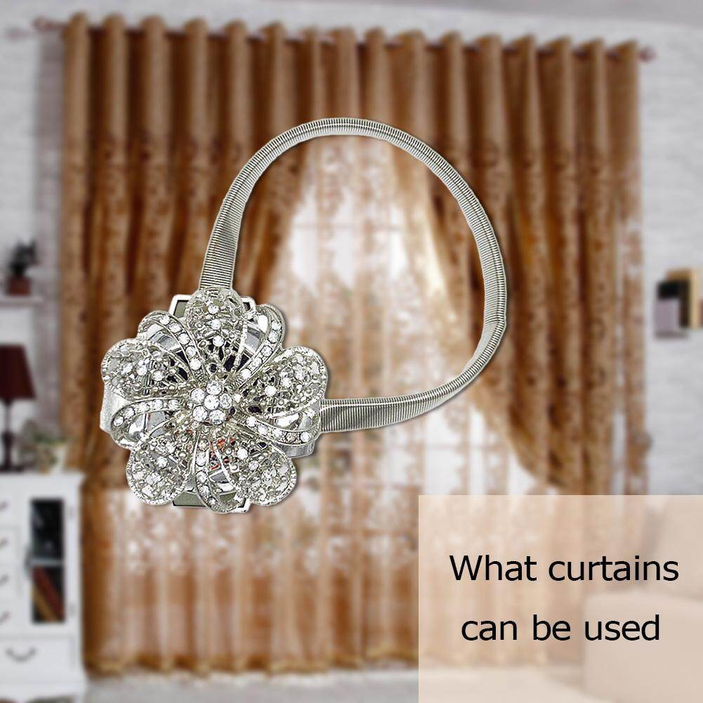 【companionship】Curtain Tieback Magnet Curtain Buckle Magnetic Curtain Holder Strap (Silver
