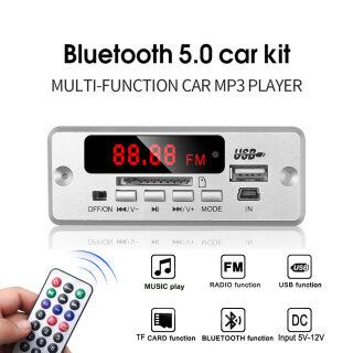 Bộ Thu Không Dây USB 3.5Mm AUX Bluetooth FM V5.0, Máy Nghe Nhạc MP3 Mô-đun Bảng Giải Mã Mp3 5V 12V Loa Âm Nhạc 1 Din Xe Kit thumbnail