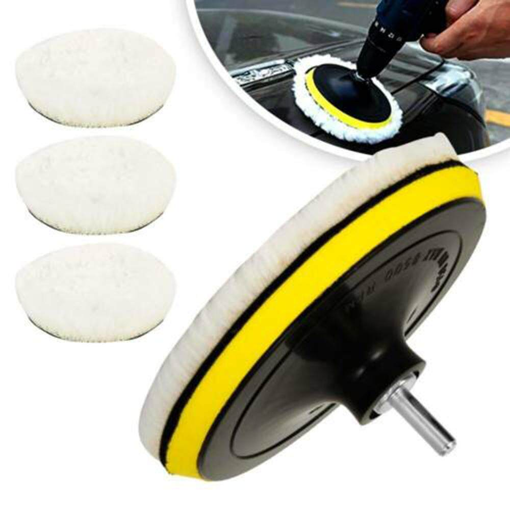 25cm Soft Wool Car Clean Waxing Polishing Polisher Buffer Buffing Bonnet Pad