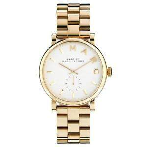 41ab7d9380b38 Marc by Marc Jacobs White Dial Gold-tone Ladies Watch MBM3243 - Brand name  watches