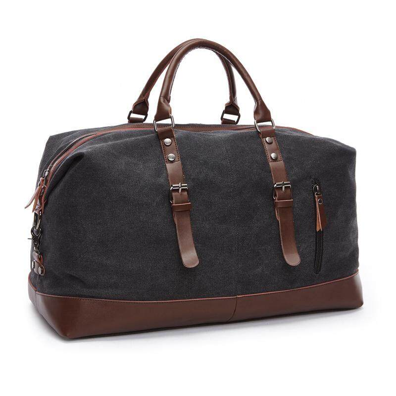 f84e1369f2aa MARKROYAL Canvas Leather Men Travel Bags Carry on Luggage Bags Men Duffel  Bags Handbag Travel Tote