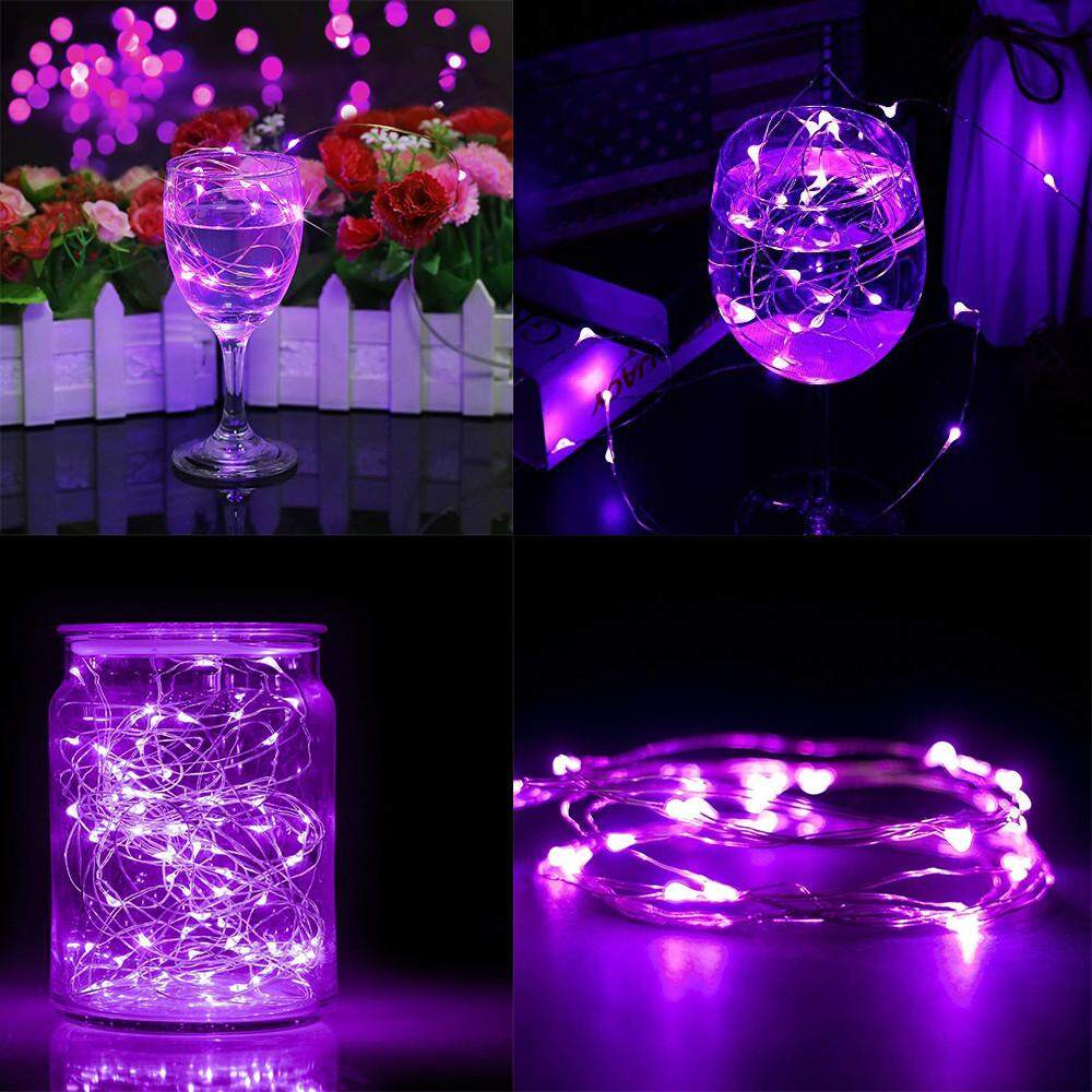 1x 10M 100 LEDs Battery Operated Mini LED Copper Wire String Fairy Lights