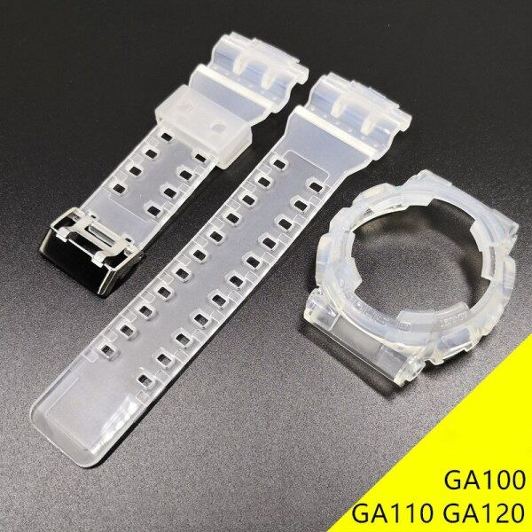 Rubber Replacement Watchband For Casio G-SHOCK GA100 GA110 GA120 Set Transparent Silicone Watch Band Strap With Watch Case Malaysia