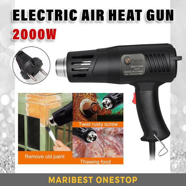 X-FORCE-2000W Hot Air Gun Industrial Electric Hot Air Gun Adjustable Thermoregulator Air Flow Heat Gun Plastic Torch for Car Foil Tools