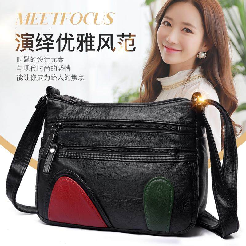 bb077692e520 Bags 2018 New Style Soft Leather Square Sling bag bags women Messenger bag  bags Middle-