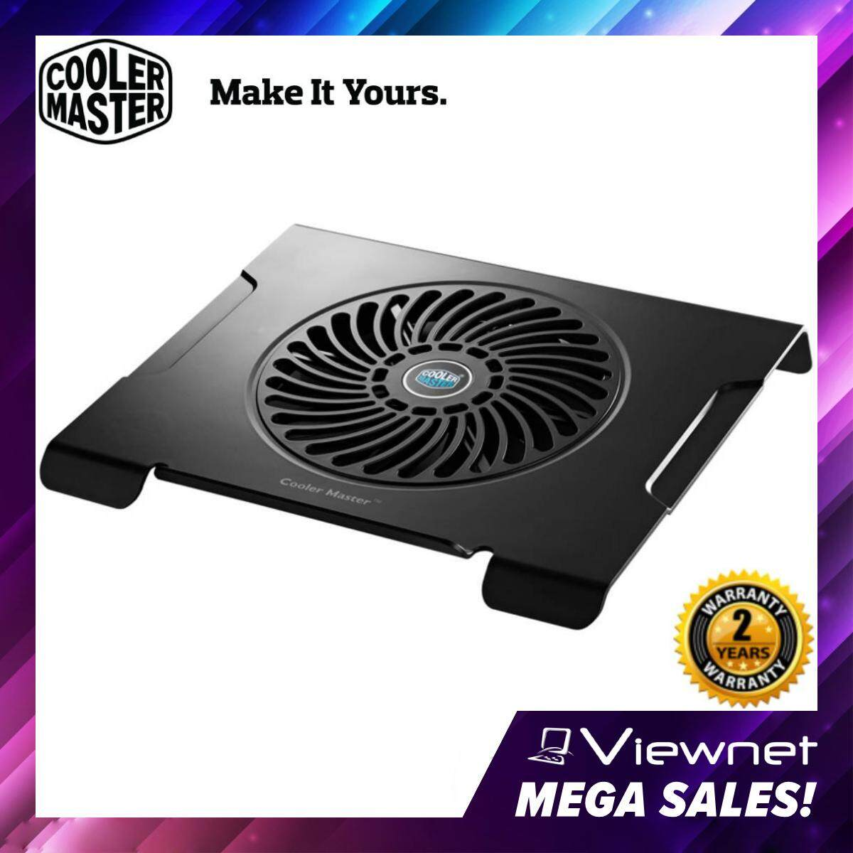 Cooler Master Notepal CMC3 Silent 200mm Fan Ergonomic Notebook Cooler for up to 15 Laptop (R9-NBC-CMC3-GP) Malaysia