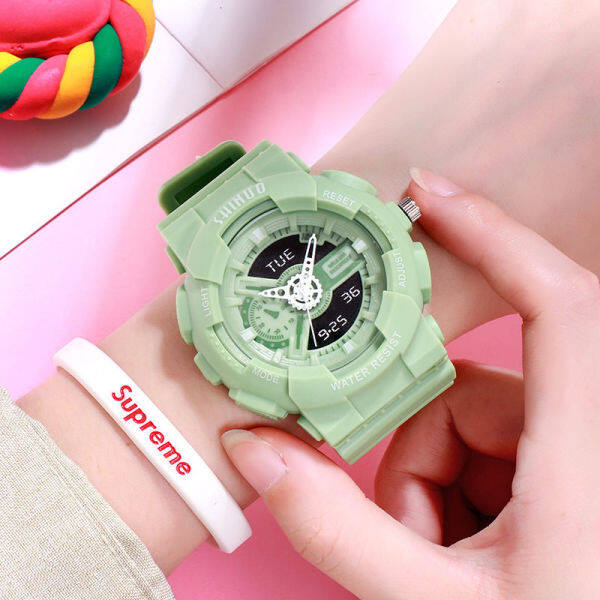 Womens watch student lovers fashion mens and womens big dial silicone sports quartz watch RP35 Malaysia