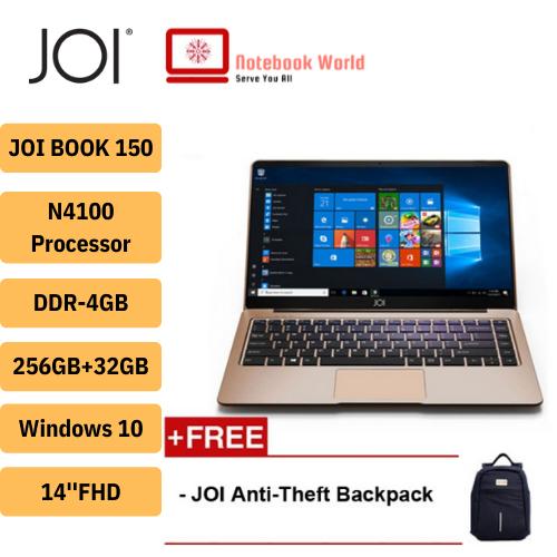 JOI Book 150 /14 FHD Laptop (N4100, 4GB, 32GB+256GB, Intel, W10H) Malaysia