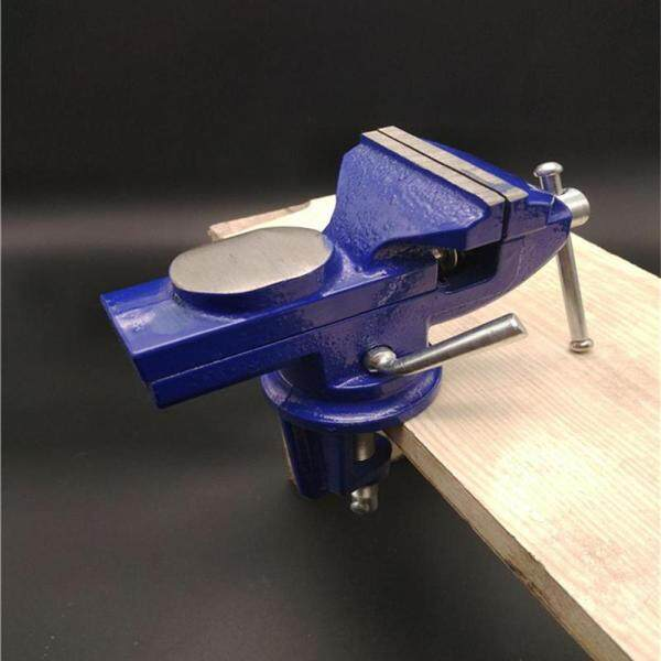 Light Duty Mechanic Clamp-on Table Vise 360 Degree Swivel Base Cast Iron Table Top Clamp Press Vice with Anvil