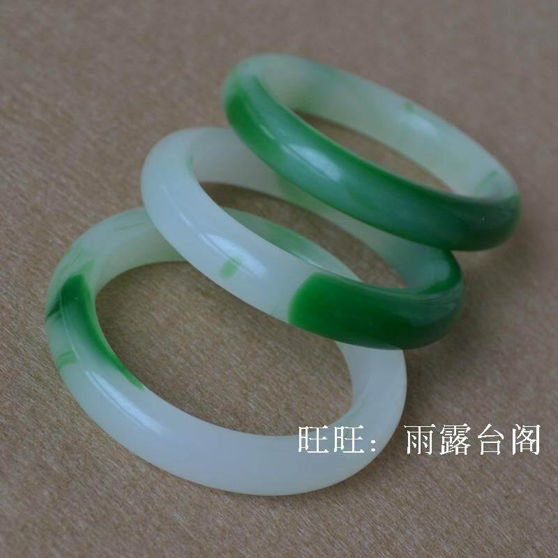 Item baru laris Kaca gelang Model Wanita Hijau gelang Jade gelang sepuluh yuan sungai dan danau