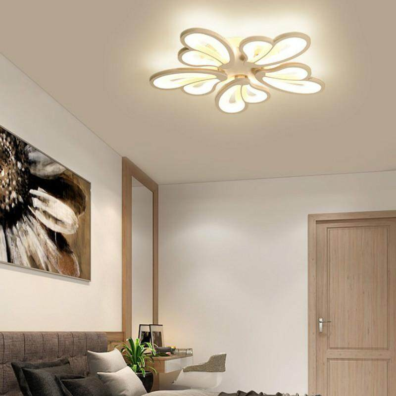 Bedroom Ceiling Light 3 Color Light Acrylic Lamp Modern Art Ceiling Lamp for Study Dining Room