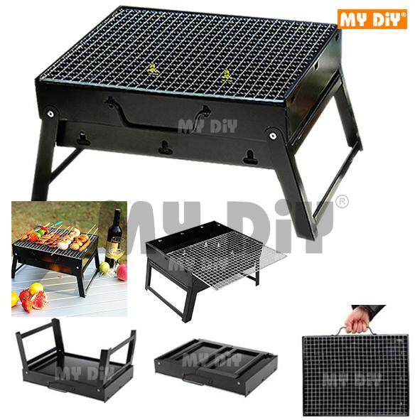 DIYAVENUERESOURCES - BBQ Grill Folding Charcoal Picnic For Barbecue Camping & Outdoor