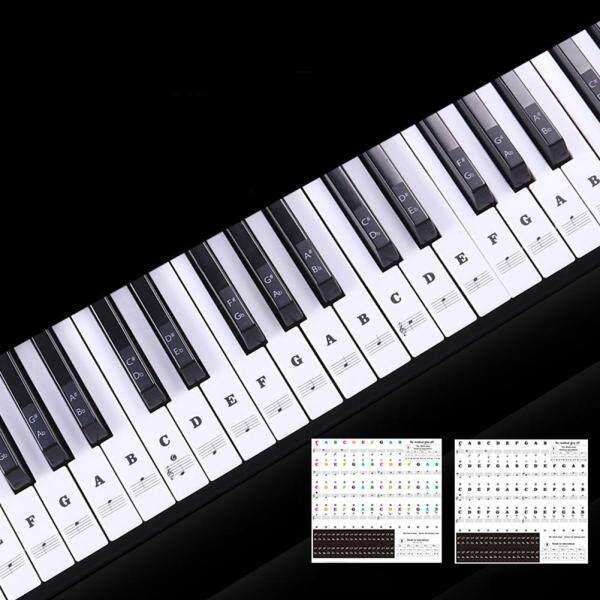 Transparent Piano Keyboard Sticker 88 Keys Electronic Keyboard Piano Sticker Malaysia