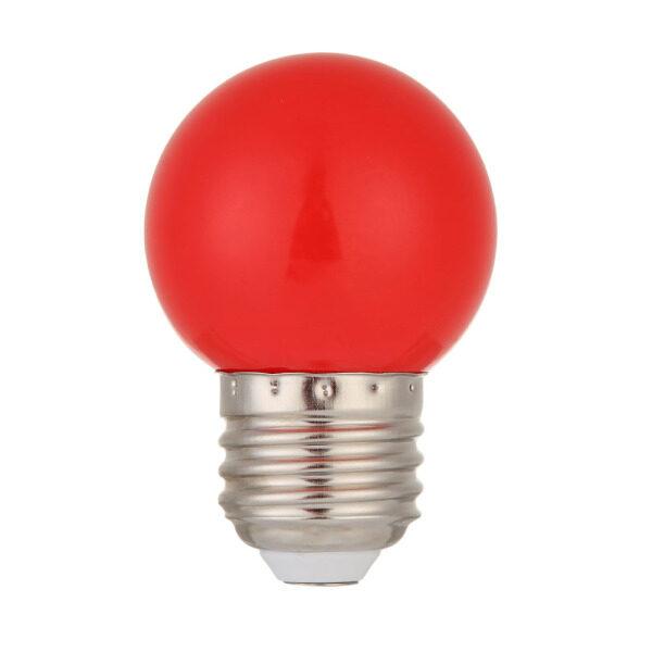Bóng Đèn LED E27 5W SMD 2835, Đèn Lồng Tiết Kiệm Năng Lượng Chiếu Sáng Sân Cửa Hàng Ánh Sáng Màu Đỏ
