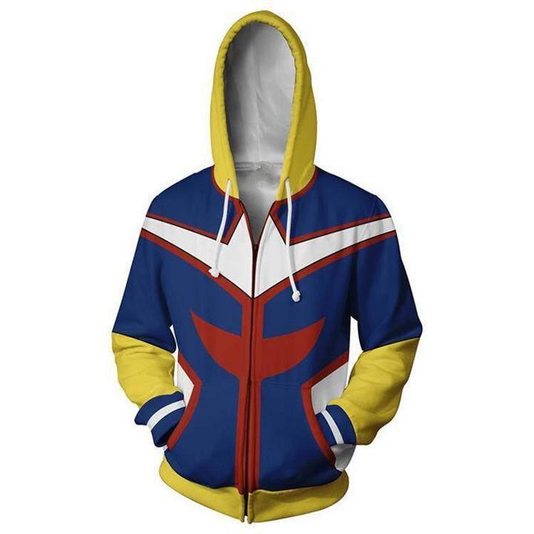 Boku no Hero Academia Mirio Togata Zipper Hooded Sweater Jacket Costume Coat