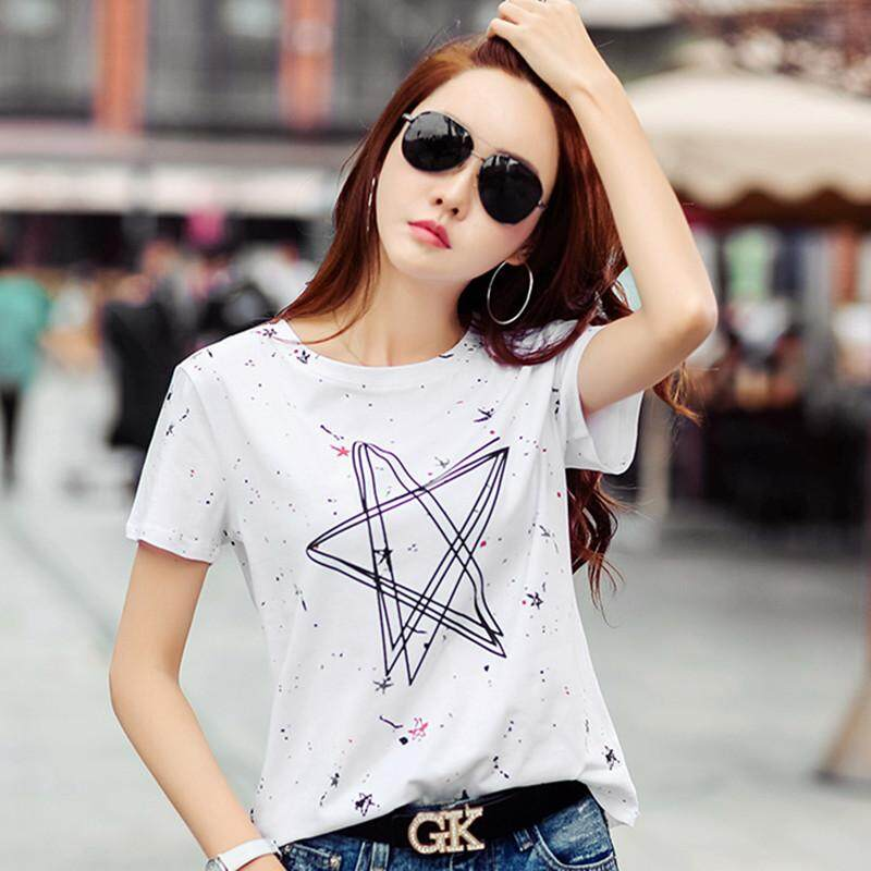 6753ebf2db8 Womens Tops And Blouses Print Female T Shirt Harajuku T-Shirts Women 2019  New Summer