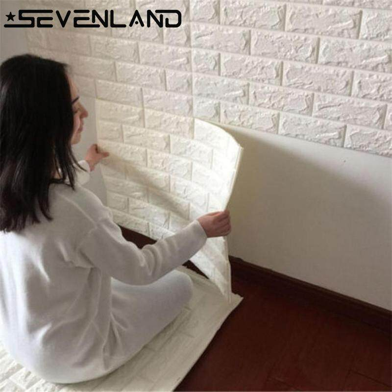 1pc 70x38.5cm PE Foam 3D Wall Stickers Safety Home Decor Wallpaper DIY Wall Decor Brick Living Room Kids Bedroom Decorative Sticker