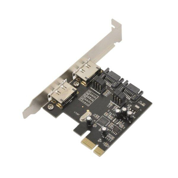 TOP (New) PCIE to SATA Card PCI-E Adapter PCI Express to SATA3.0 Expansion Card PCI Express SATA 3 Controller Card 2Port Adapter