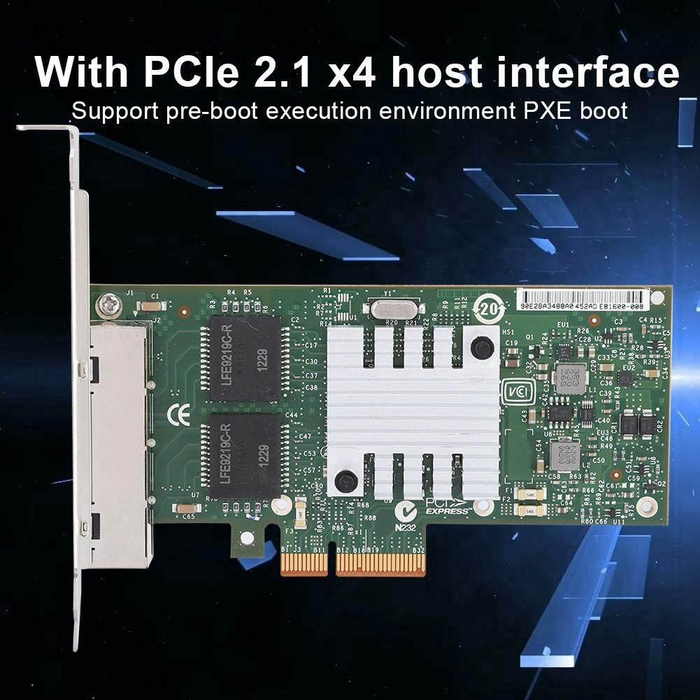 Giá Googoo 10/100/1000Mbps 82580 4 Cổng Tốc Mạng LAN Thẻ Cho Intel I340-T4