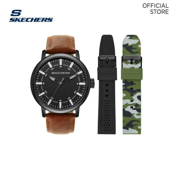 Skechers Brown Watch Set SR9030 Malaysia