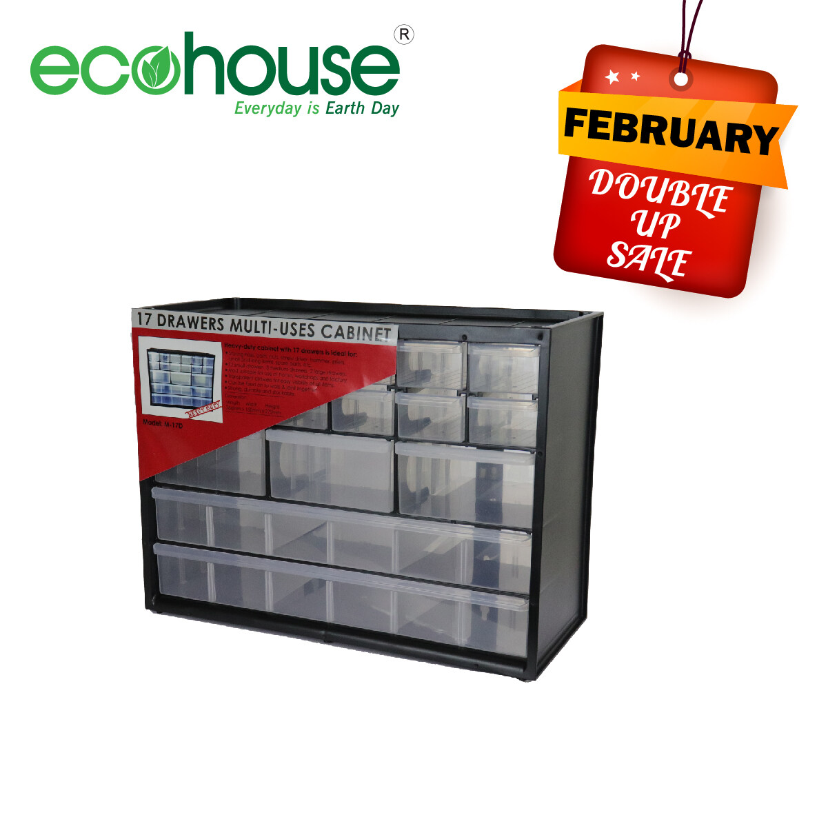 17 Drawers Multi-uses Cabinet