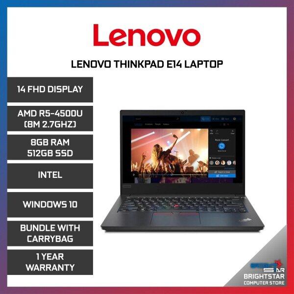 Lenovo ThinkPad E14 Laptop (14 Inch FHD / AMD Ryzen / R5-4500U (8M 2.7GHZ) / 8GB RAM / Intel Graphic / Windows 10 / 1 Year Warranty) Malaysia
