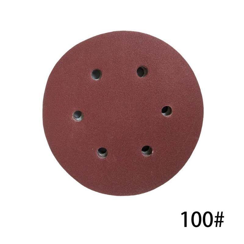 100 CHIẾC 125mm Móc Vòng Giấy Nhám với 8 Lỗ Cát Miếng Lót Bộ 100 Nhám Nhám Đĩa Chất Mài Mòn Dụng Cụ máy đánh bóng