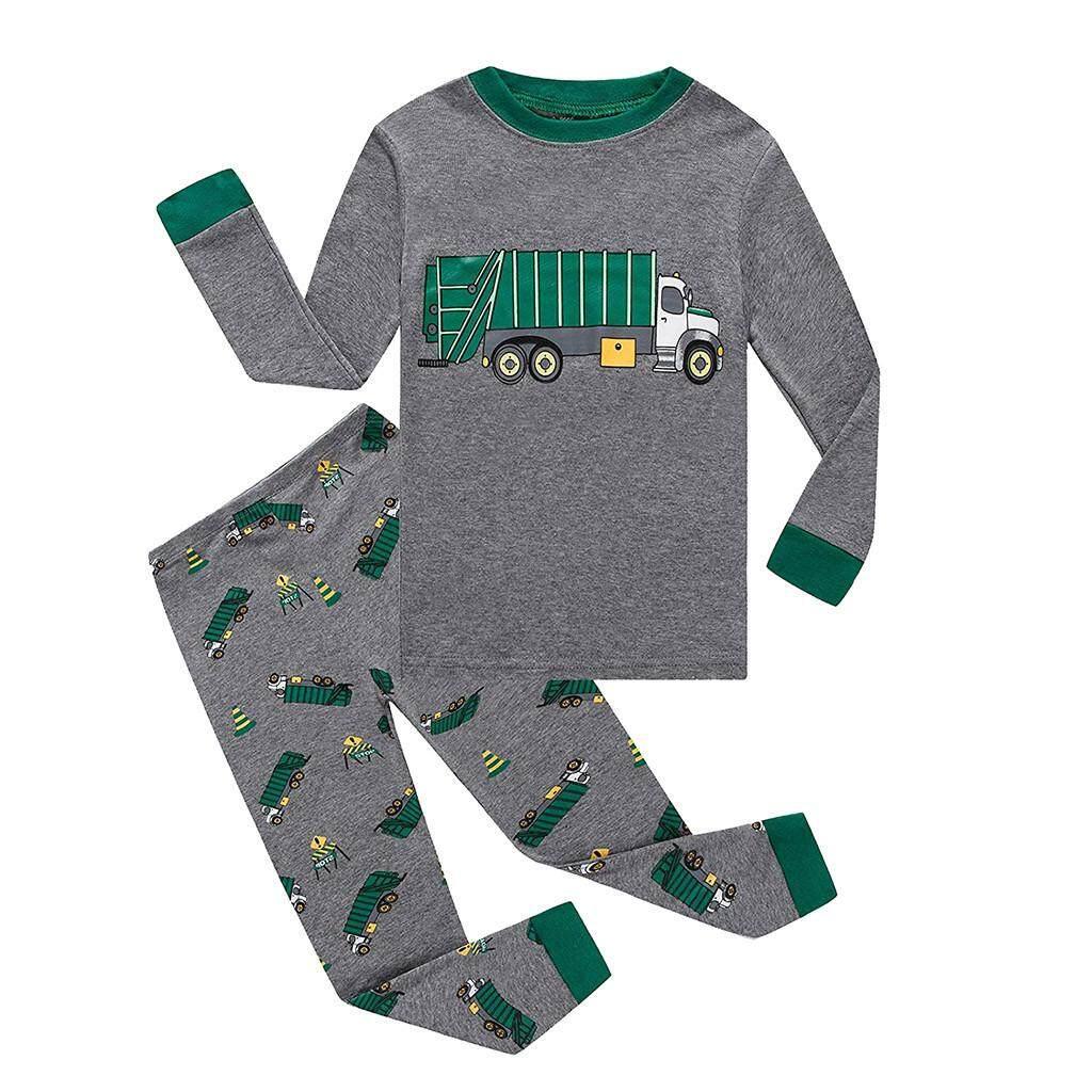 b6d718b6491b1 Rayeshop Toddler Baby Boys Girl Long Sleeve Car Print Tops+Pants Pajamas  Sleepwear Outfit【