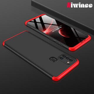 Ốp điện thoại niwinee cho Samsung Galaxy a21s ốp lưng điện thoại nhựa cứng siêu mỏng 3 trong 1 bảo vệ toàn bộ 360 thumbnail
