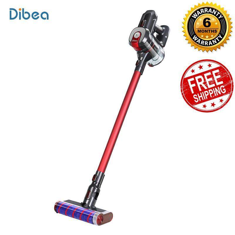 Dibea D008Pro 2-In-1 Vacuum Cleaner Handheld Wireless Strong Suction Vacuum Dust Cleaner Low Noise Dust Collector Aspirator [With Singapore plug adapter] Singapore