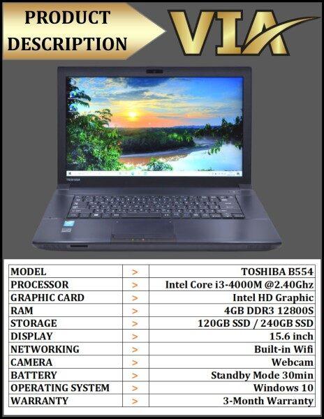 【Ready Stock】Student/Office Laptop TOSHIBA B554 CORE i3 4TH GEN~4GB DDR3~120GB SSD / 240GB SSD~WIN10 Malaysia