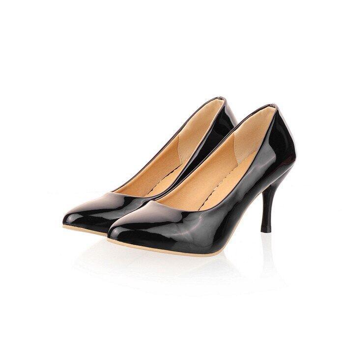 Women Shoes High Heels Pointed Toe High Heel Shoes Women Pumps White Wedding Heels Footwear Yellow Black Large Size 9 10