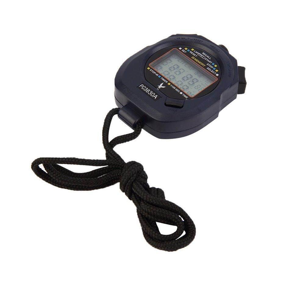 Hot Penjual Profesional Baru Digital 3 Baris Stopwatch 30 Memori Stopwatch By Neveriss.