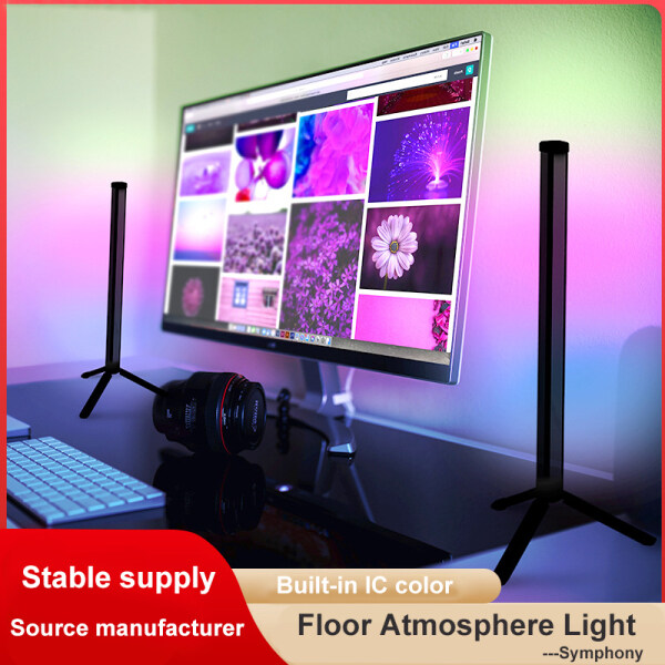 Đèn Sàn Góc RGB Đèn Sàn LED Cực Tối Giản Hiện Đại Đèn LED Đứng, Đèn Đứng Trong Nhà Phòng Ngủ Phòng Khách + Điều Khiển Từ Xa